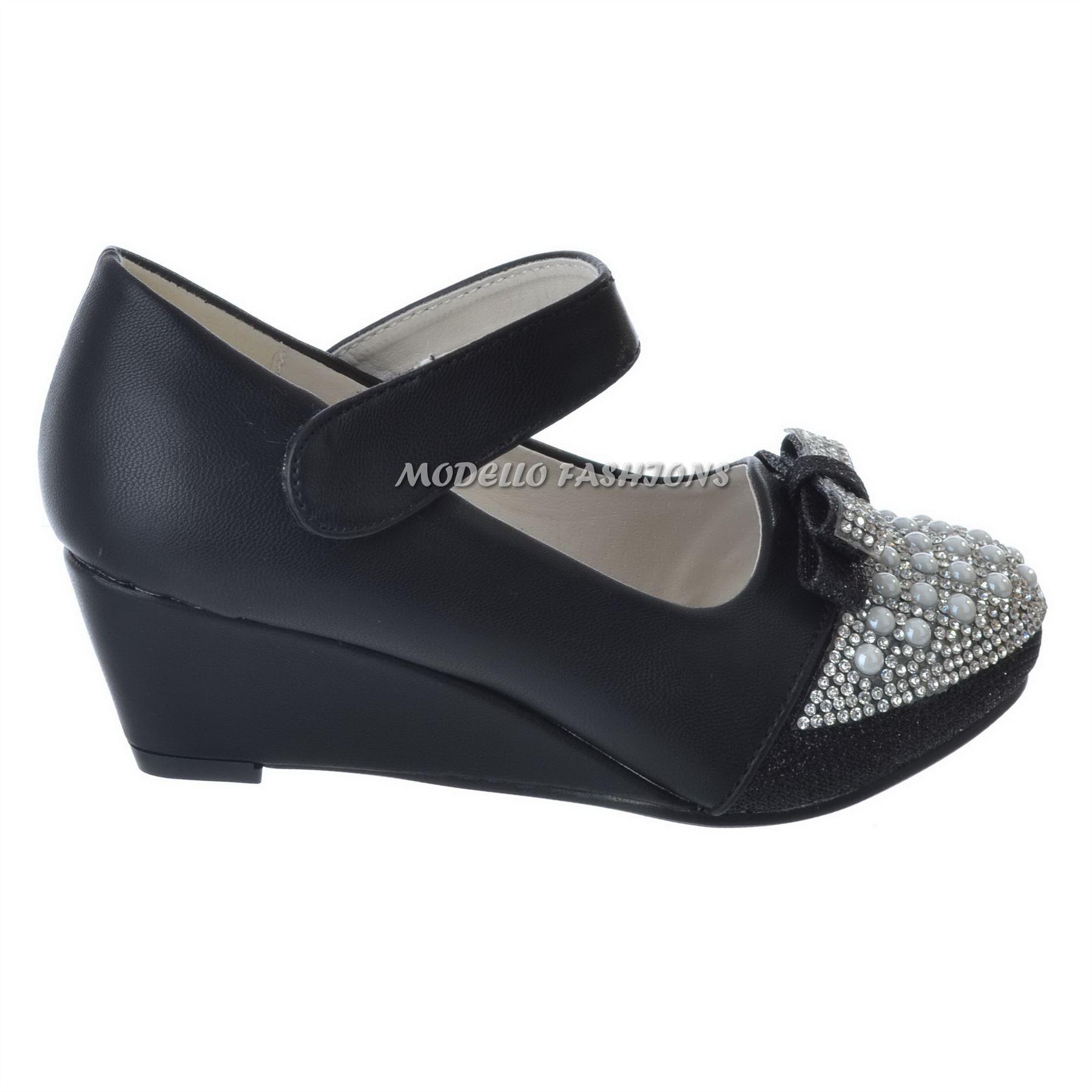 new wedge flat heel velcro diamante