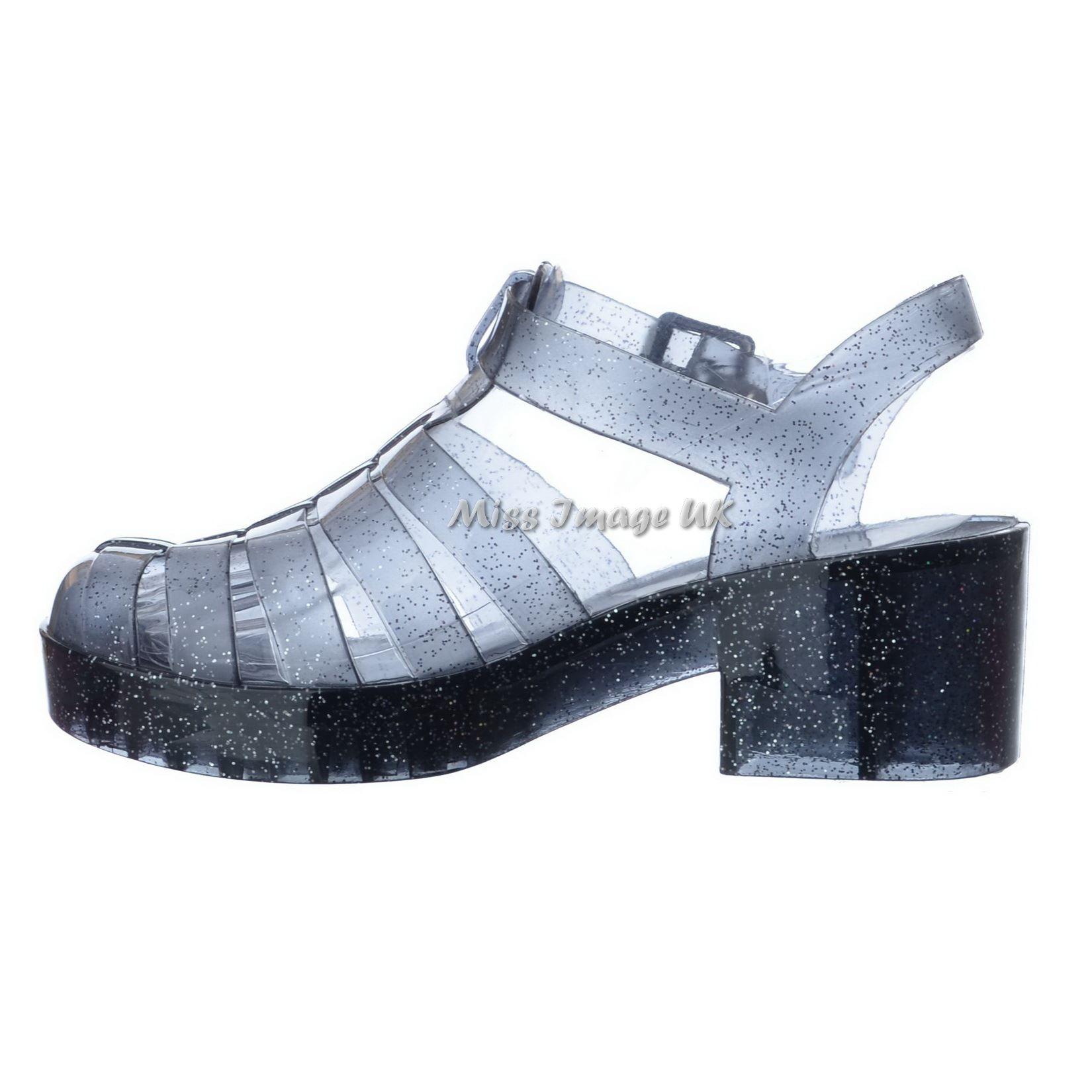 Ladies Womens Retro Chunky Block Heel Gladiator Platform