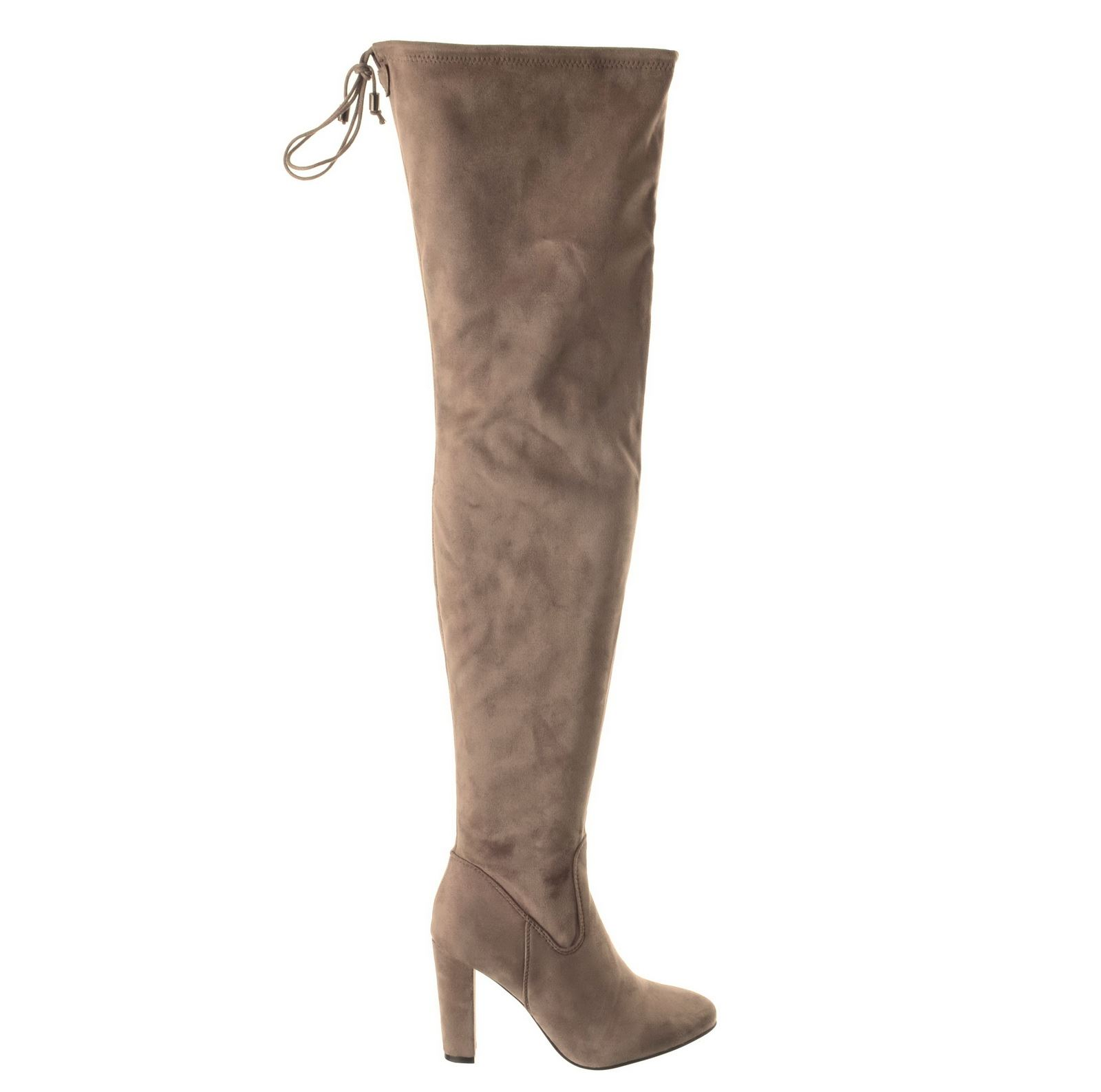 womens thigh high the knee suede boots shoes