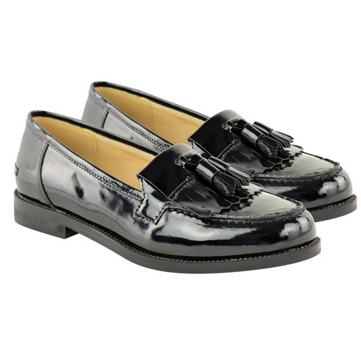 WOMENS LADIES FLAT TASSEL LOAFERS SMART CASUAL SCHOOL OFFICE WORK SHOES SIZE | EBay
