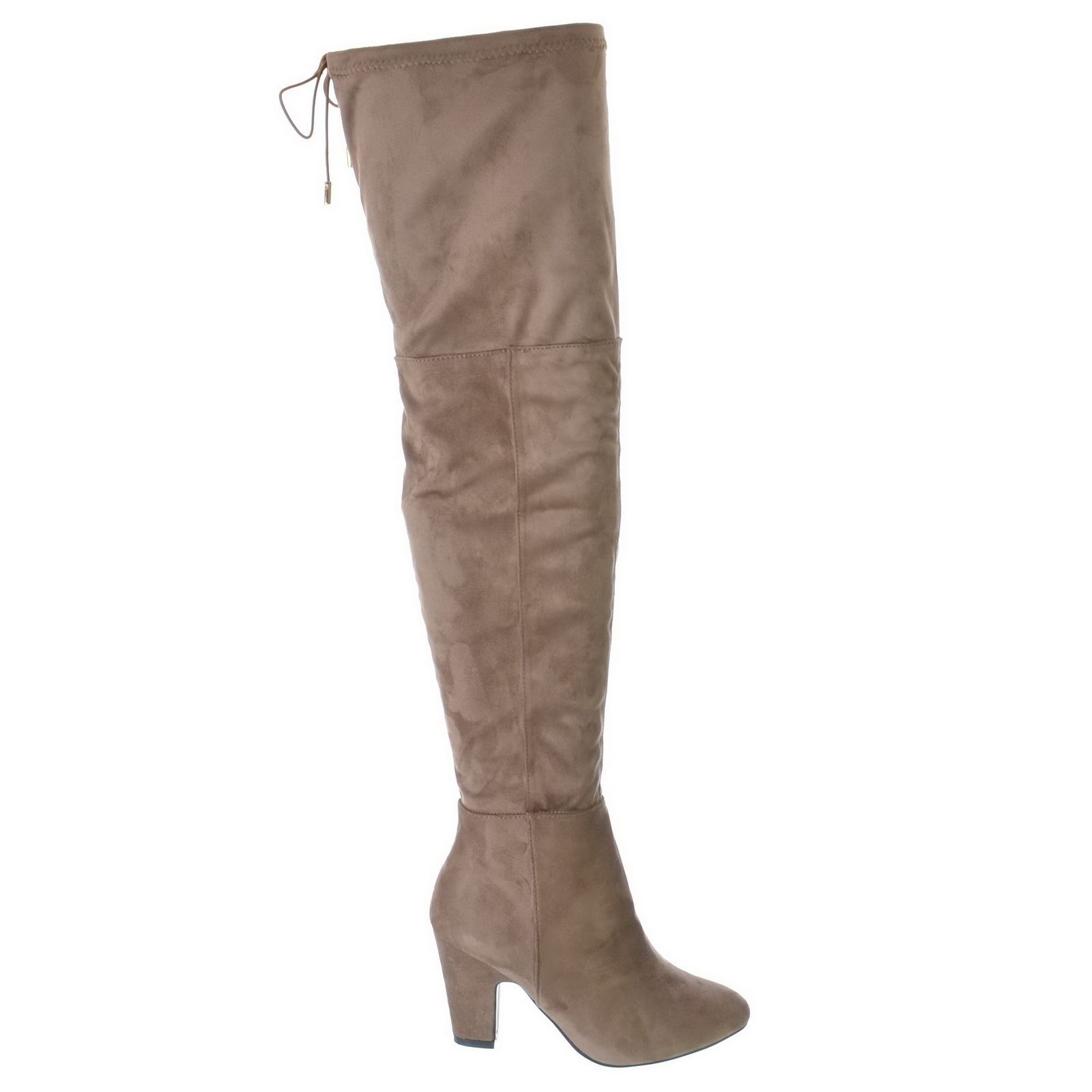womens the knee thigh high stretch block mid