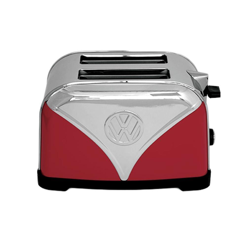 Retro Red Kitchen Official Vw Red Volkswagen Logo Design Kitchen Toaster 2 Slice