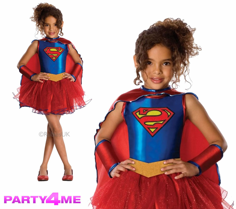 Childs-Superhero-Fancy-Dress-Costume-Halloween-Book-Week-Kids-New-Girls-Outfit
