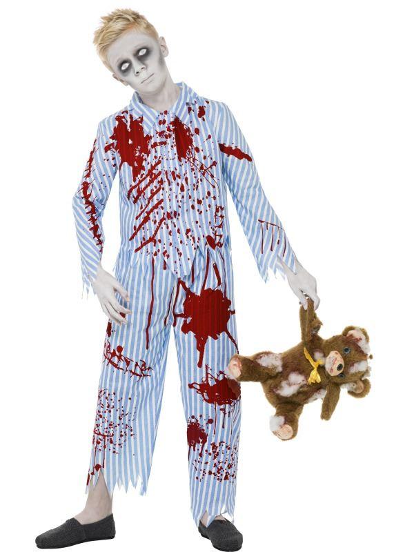 enfant zombie pyjama gar on fille costume d guisement halloween mort vivant horreur kids ebay. Black Bedroom Furniture Sets. Home Design Ideas