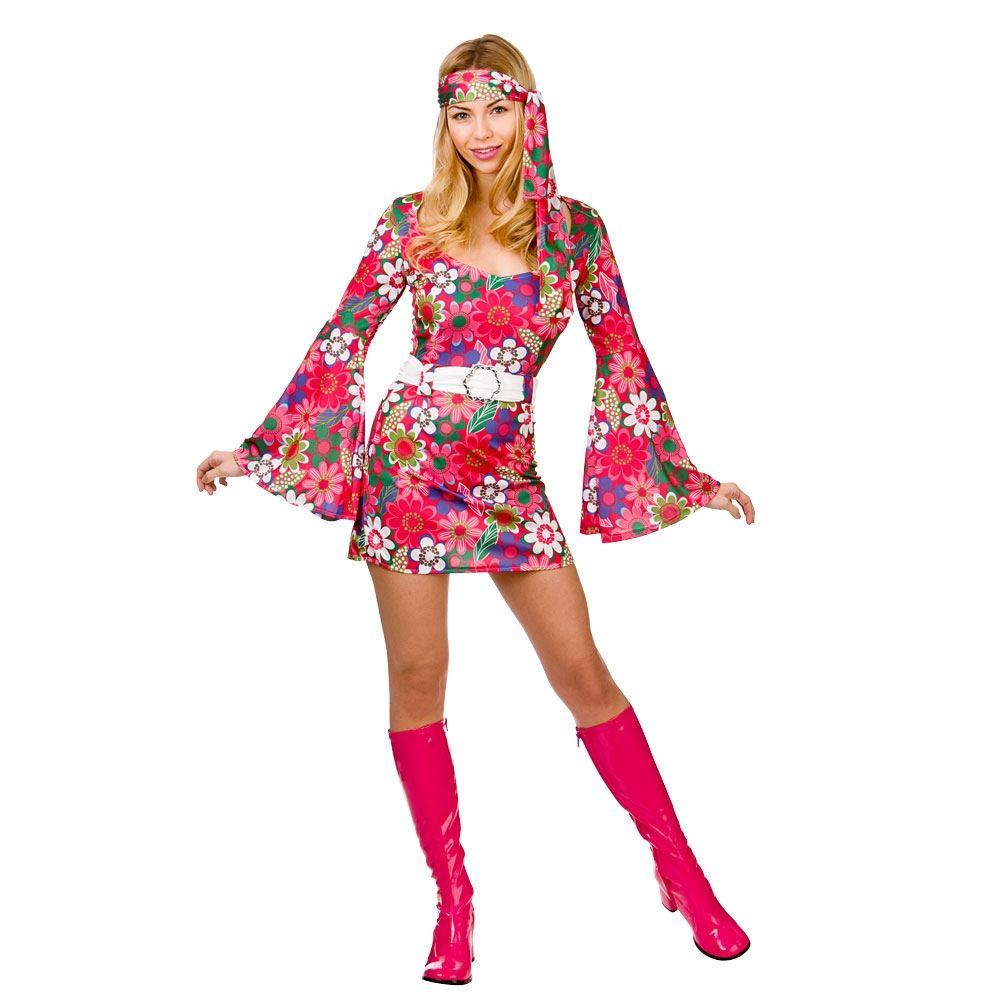 hippy fancy dress costume 1960s 1970s womens