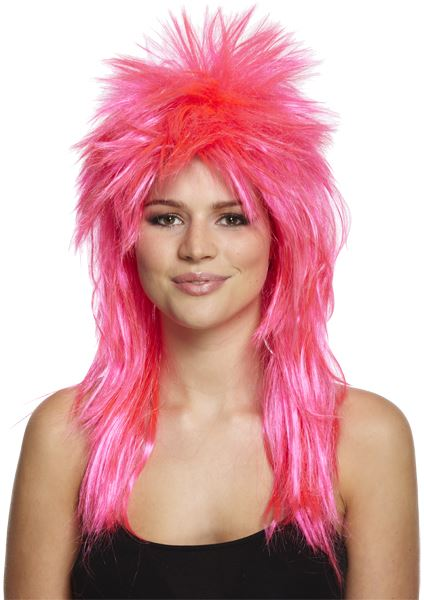 Strange 80S Ladies Glam Punk Rock Rocker Chick Tina Turner Wig For A Fancy Hairstyles For Women Draintrainus