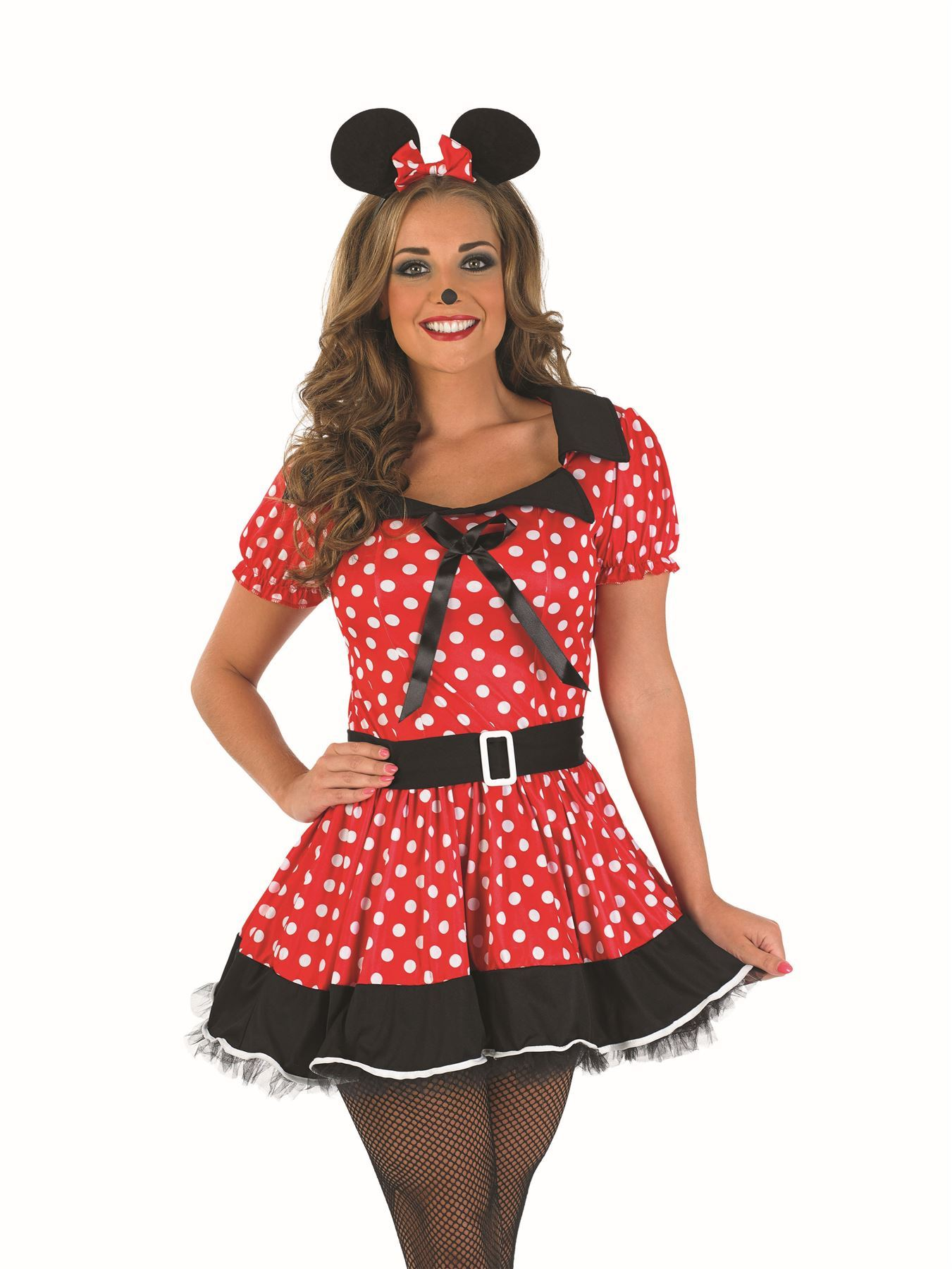 LADIES ADULT MISSY MINNIE MICKEY MOUSE DISNEY FANCY DRESS ...