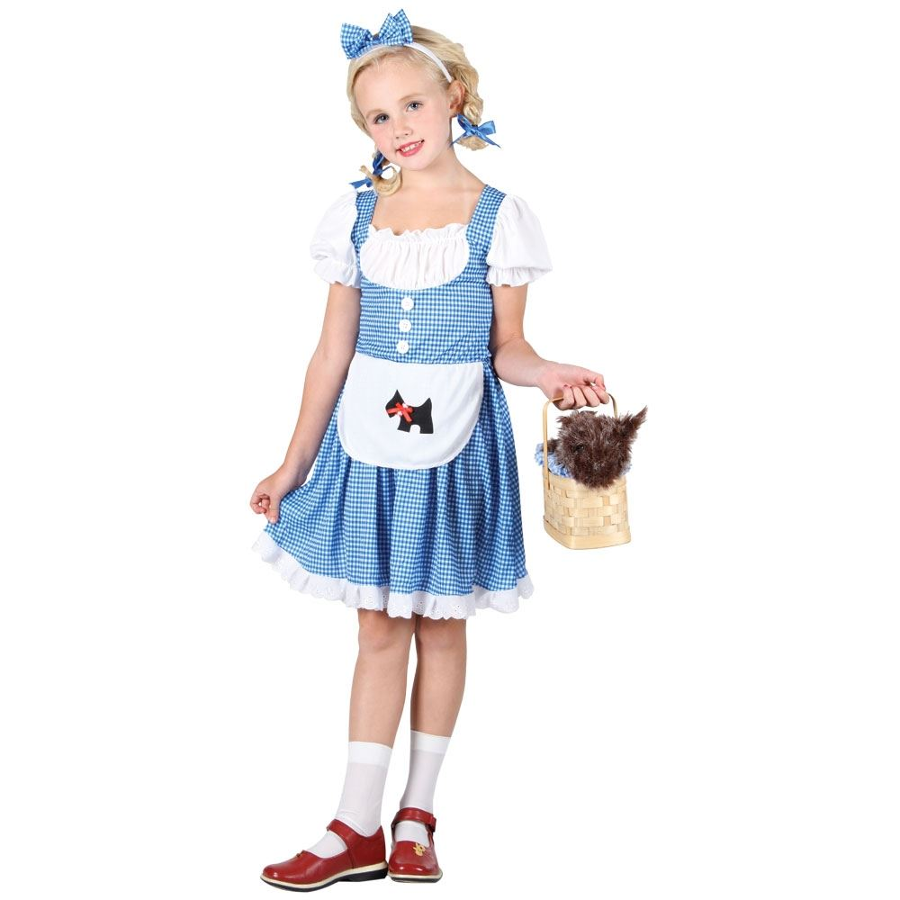 Girls-Dorothy-Costume-Kids-Childrens-Fancy-Dress-Wizard-of-Oz-Book-Week-Outfit