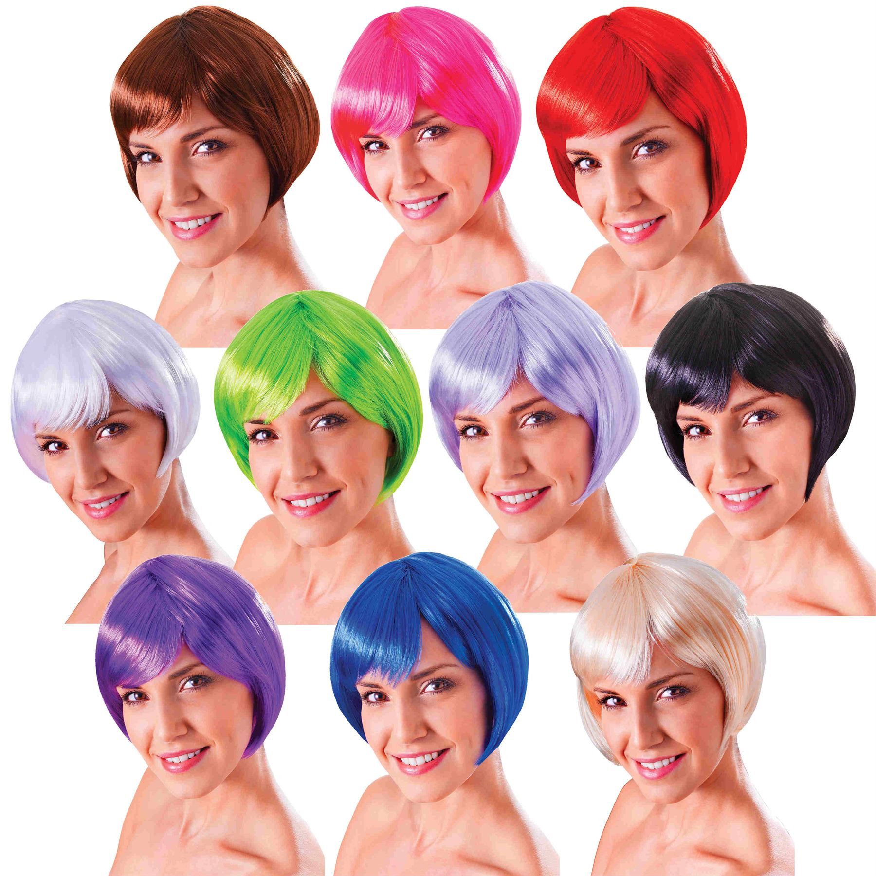 Blonde Bob Wig Fancy Dress 35
