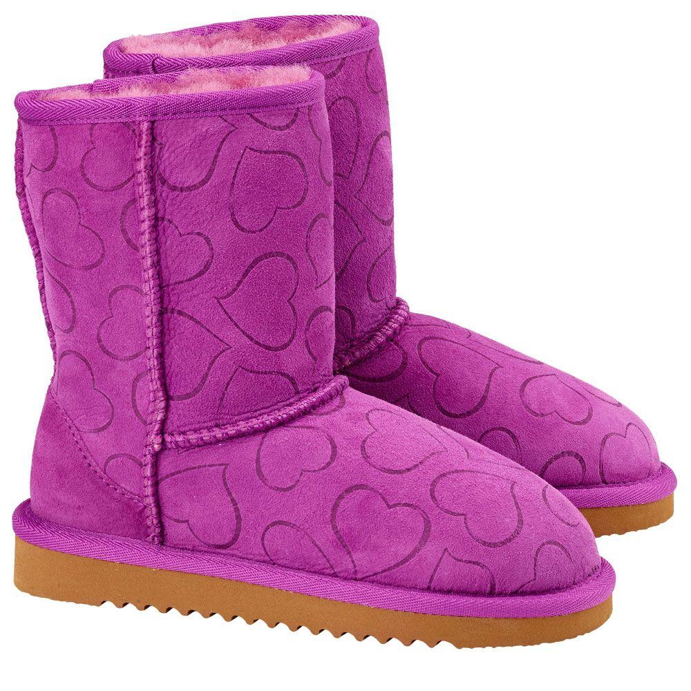 Kirkland Australian Sheepskin Kids/Girls Shearling Boots/Shoes ...