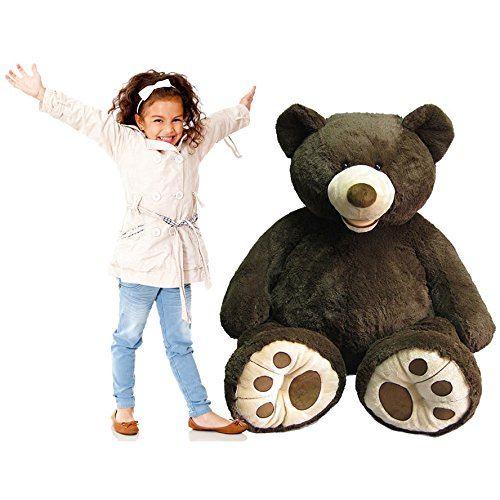 "Hugfun Stuffed Animals: Hugfun 53"" XL Large Sitting Plush Giant Teddy Bear Huge"