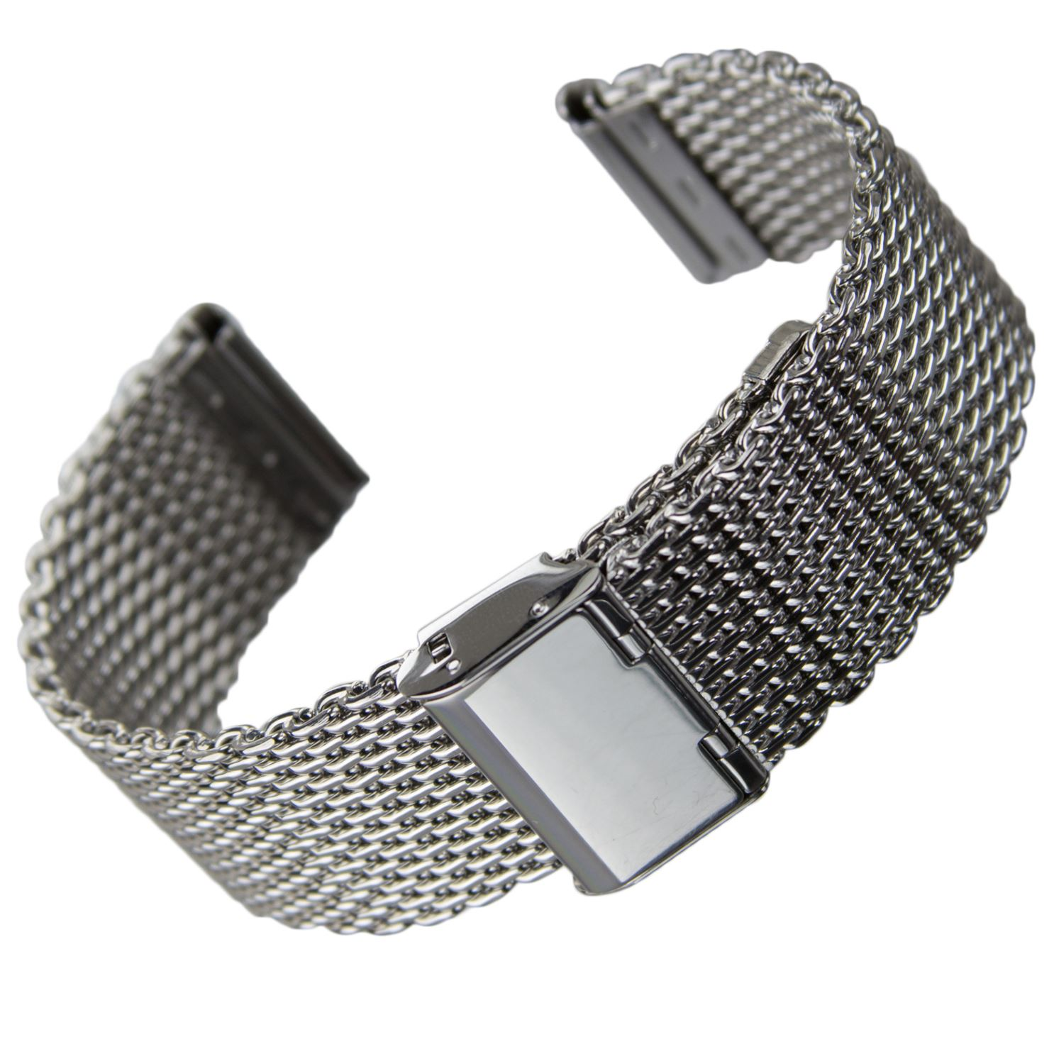 geckota stainless steel mesh watch strap milanese mesh. Black Bedroom Furniture Sets. Home Design Ideas