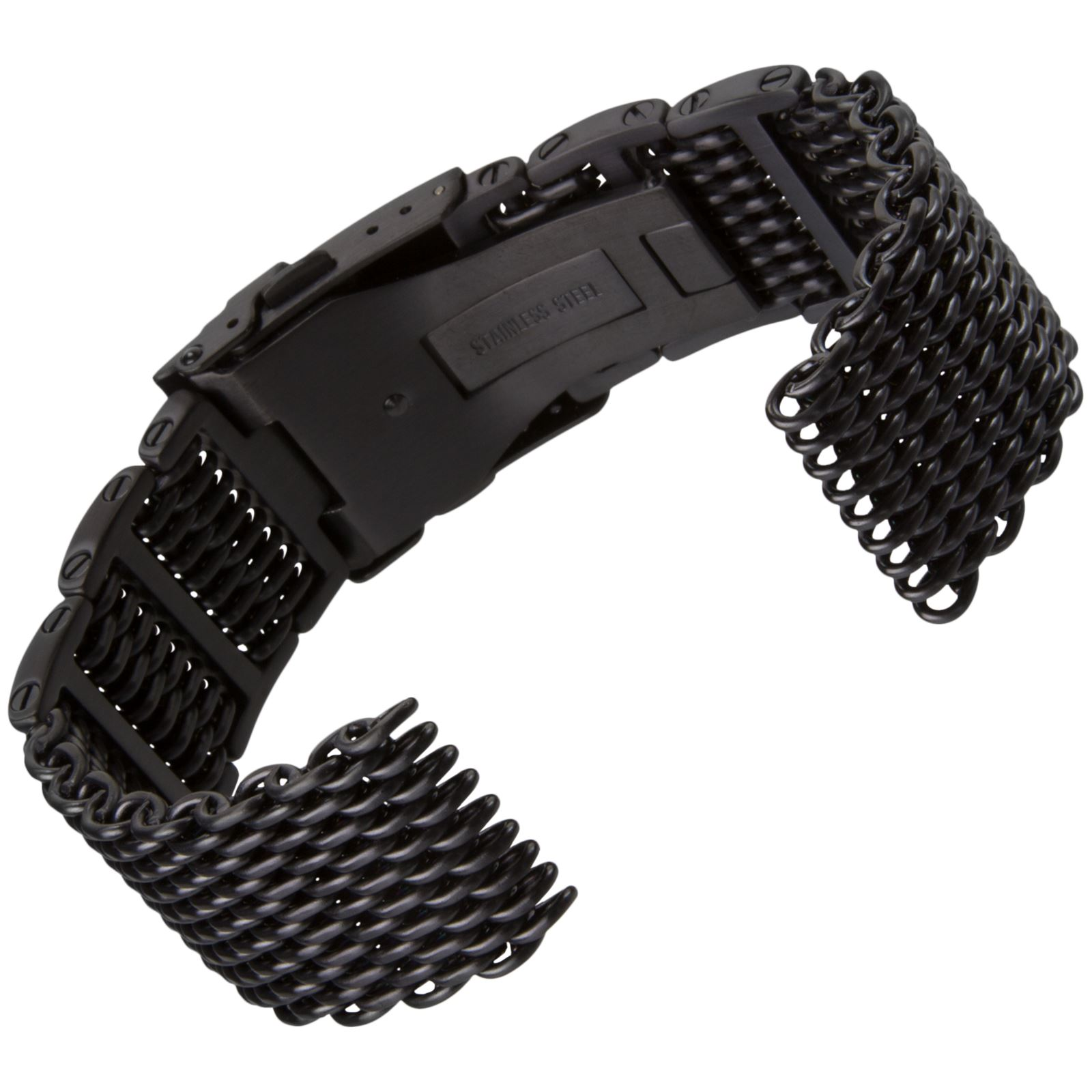 how to set steel mesh watch strap