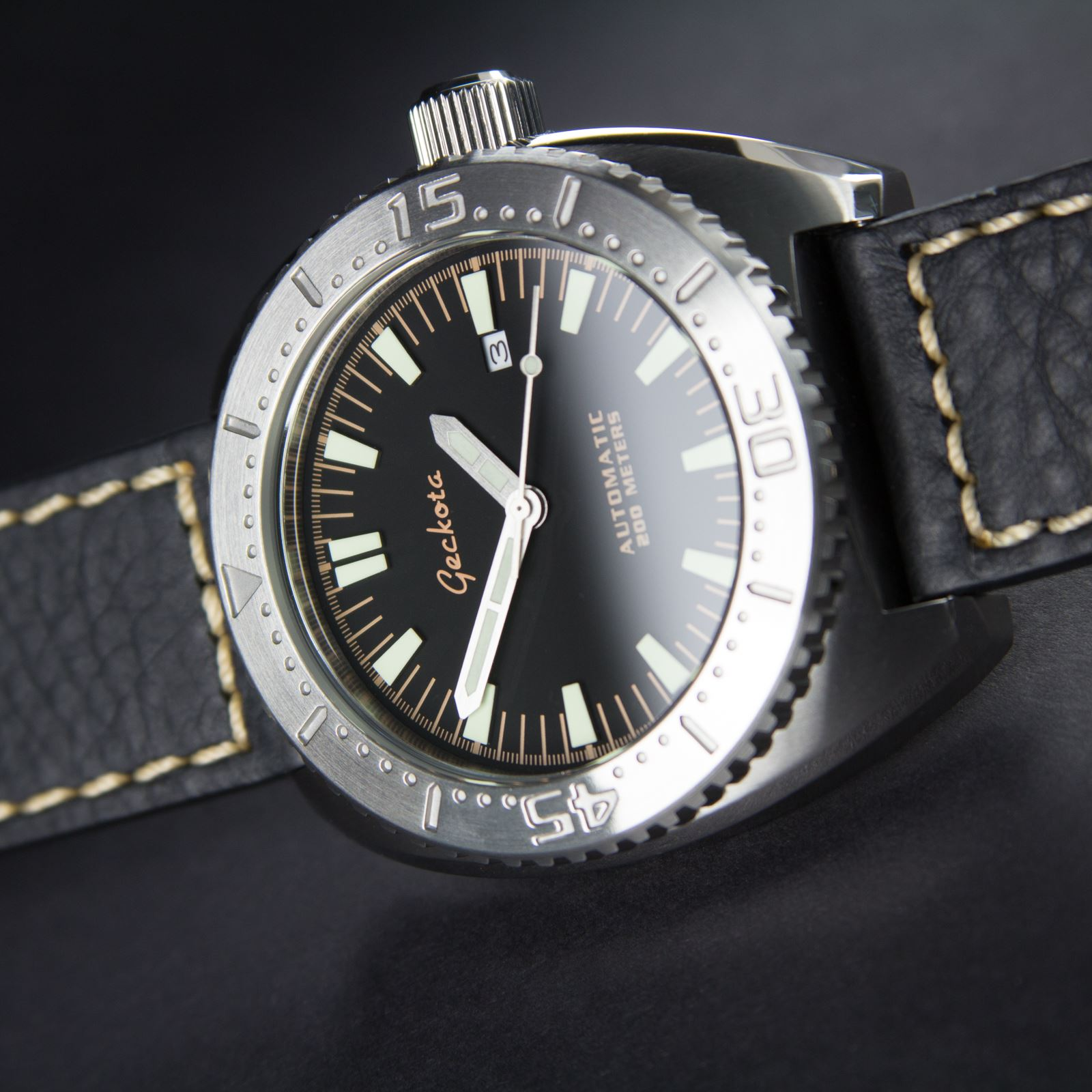 New geckota k3 mechanical automatic miyota 8215 chunky diver 39 s watch ebay for Geckota watches