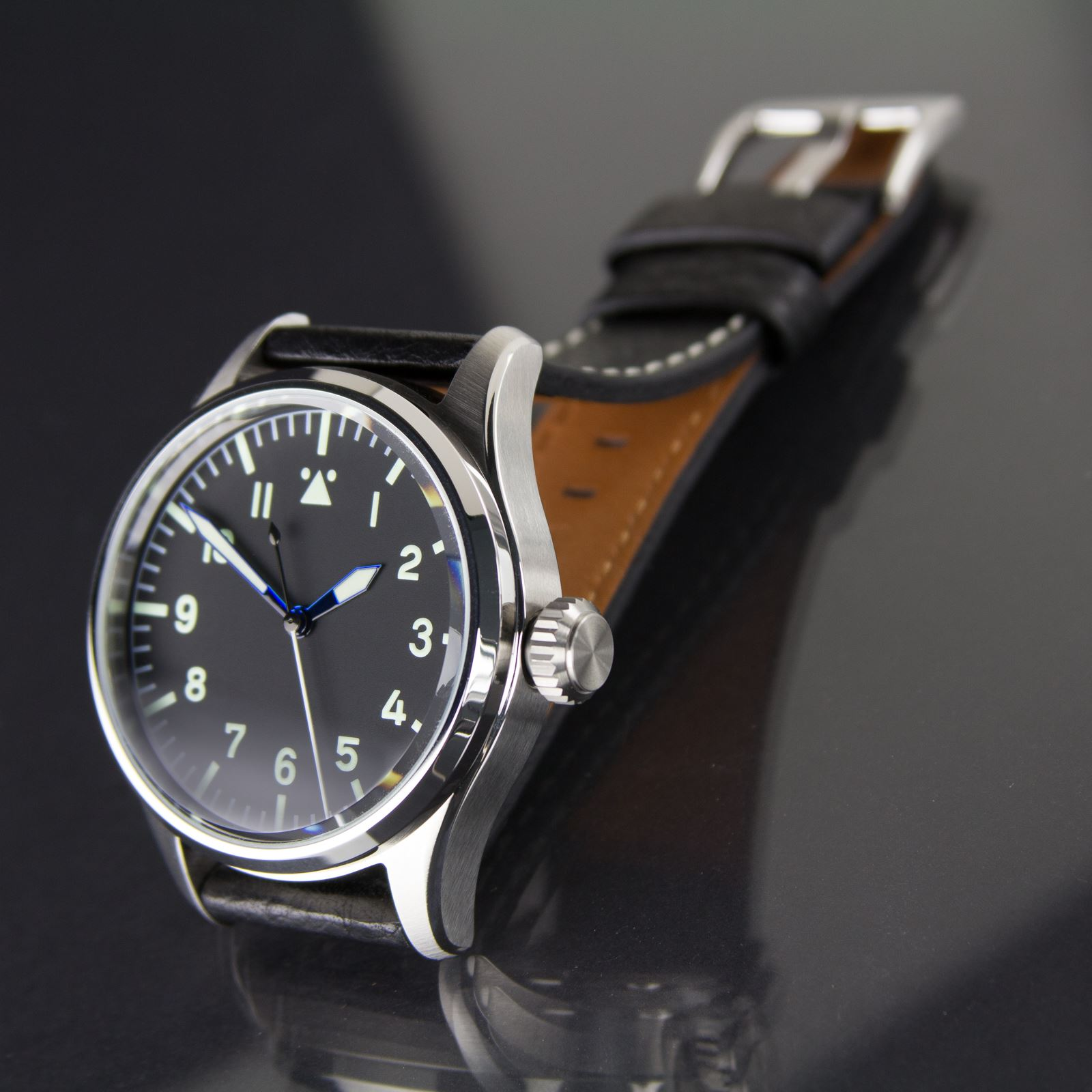 geckota k1 mechanical automatic miyota 8215 pilot 39 s watch flieger design 44mm ebay