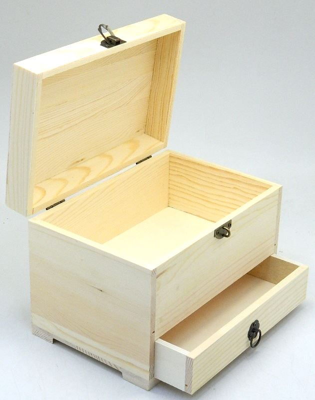 Design your own wood chest drawer diy unfinished jewelry for Design your own wooden ring