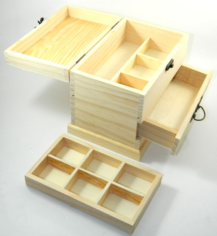 Design your own wood drawer box diy unfinished sewing for Design your own wooden ring