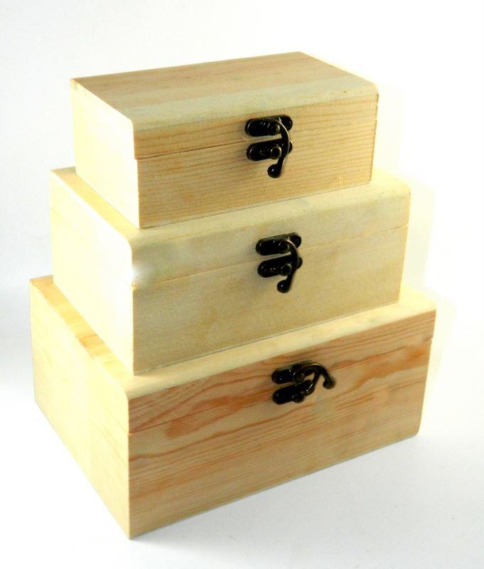 design your own set x3 wood box diy unfinished trinket