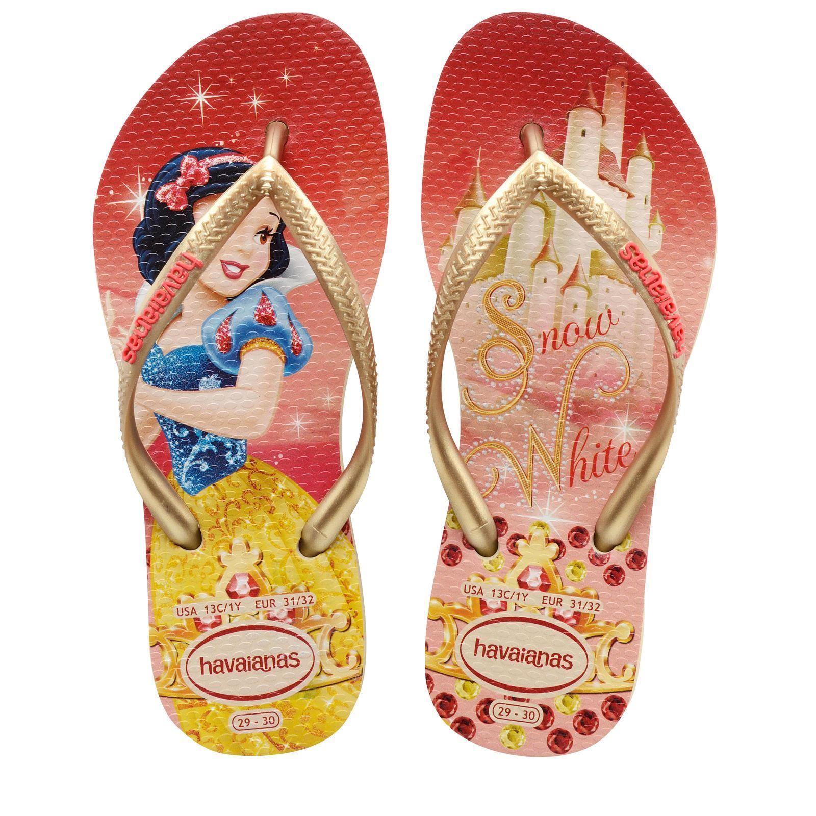 havaianas brazil snow white original flip flops all kids girls sizes ebay. Black Bedroom Furniture Sets. Home Design Ideas
