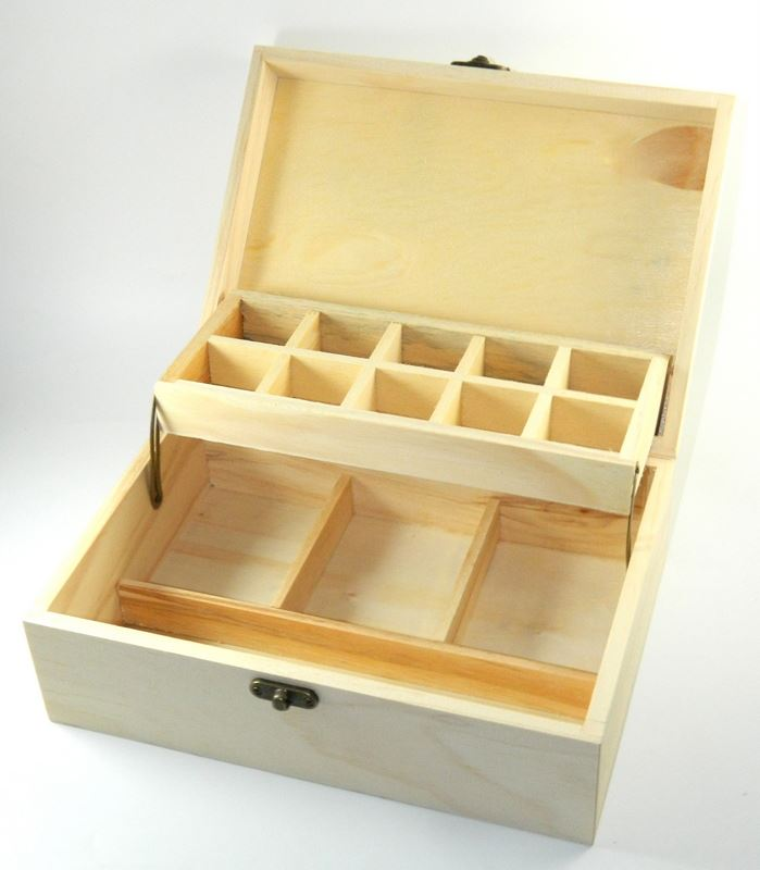 design your own wood devided box diy unfinished trinket