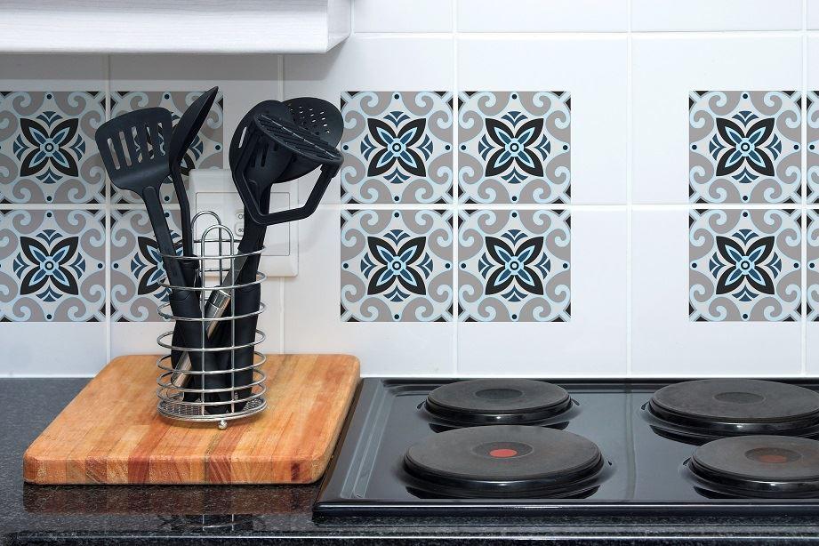 Set 4 Square Tile Art Wall Kitchen Bathroom. Set 4 Square Tile Art Wall Kitchen Bathroom Decals Stickers DIY