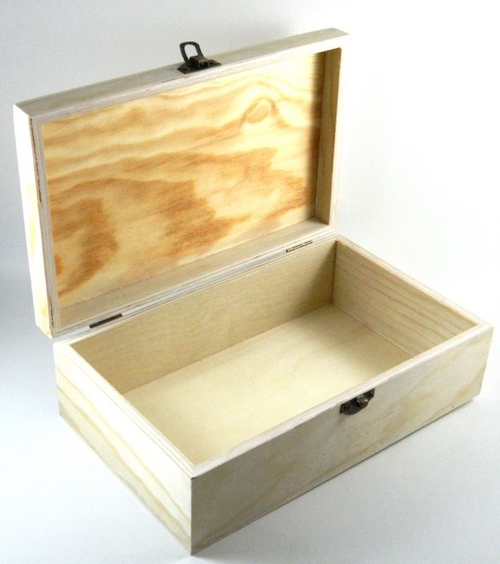 Design Your Own Wood Box DIY Unfinished Trinket/ Jewelry