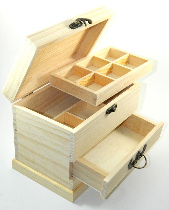 unfinished wood jewelry box crafts