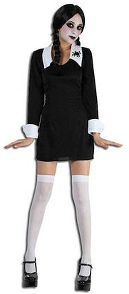 colegiala terrorfica disfraz mircoles familia addams halloween nioadulto
