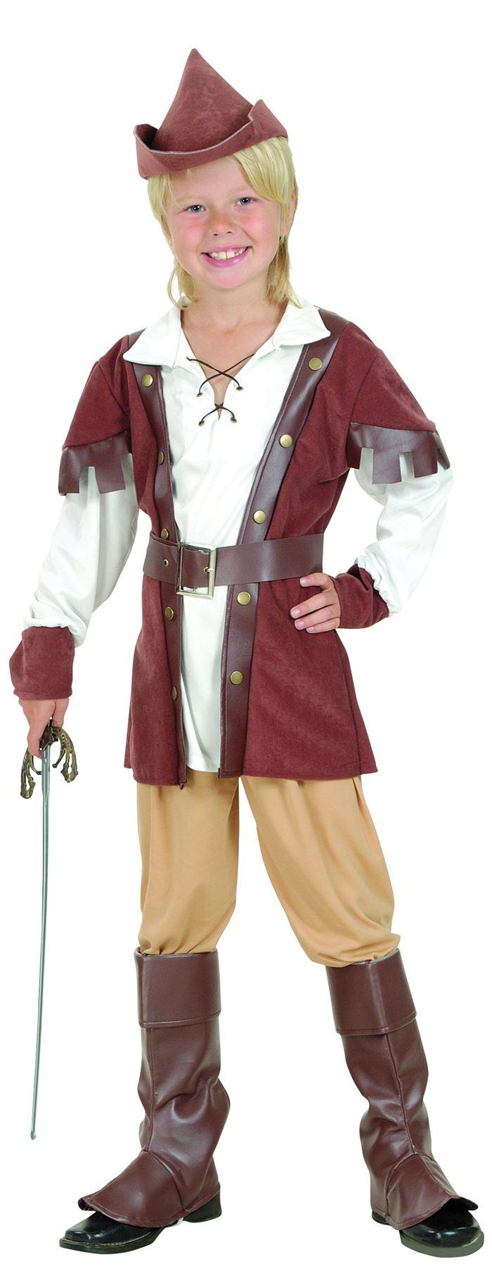 Robin Hood Boy Deluxe Costume, Childrens Fancy Dress, Boys  ~ Costume Robin Des Bois