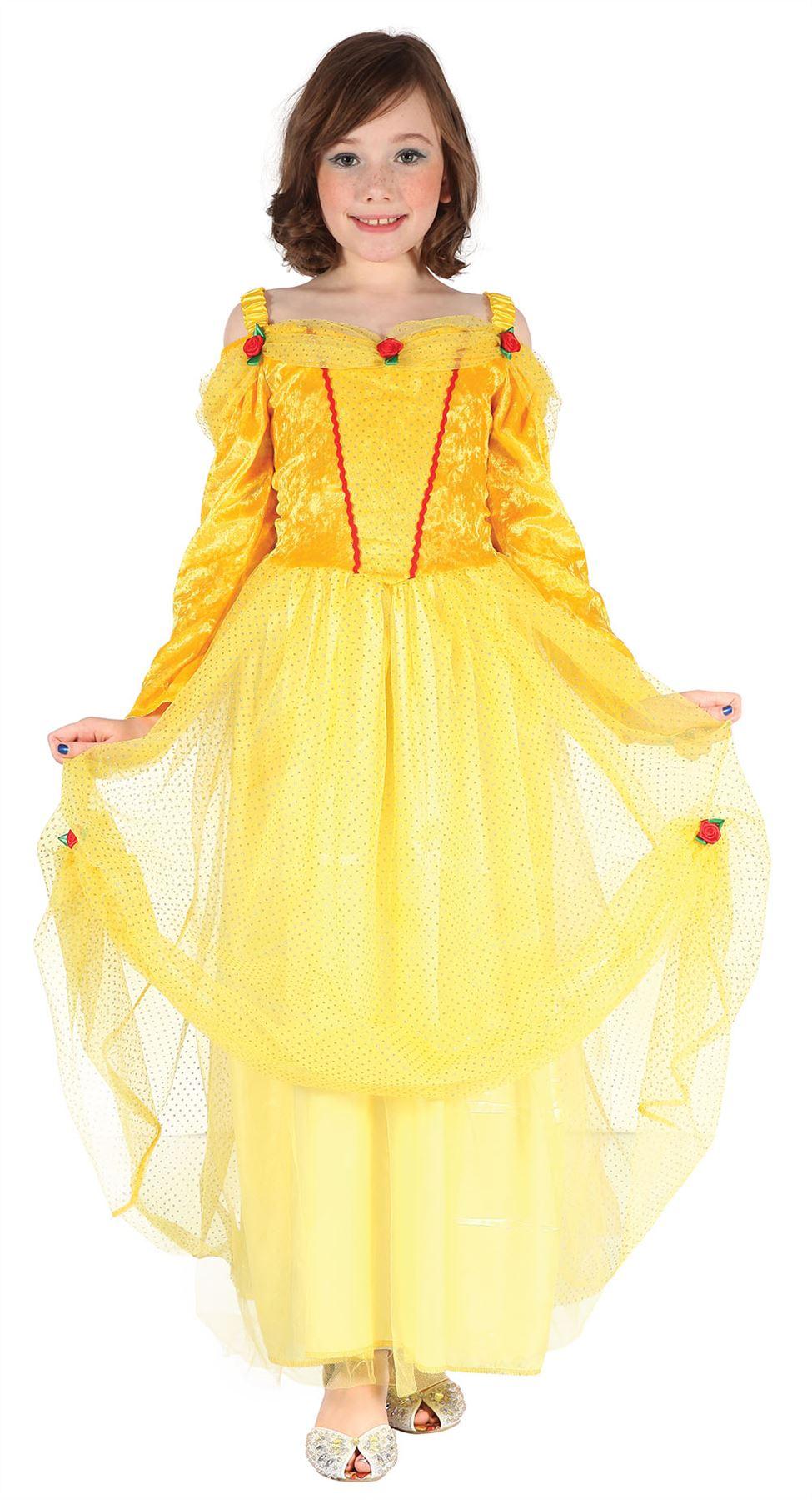 girls beauty beast dress yellow