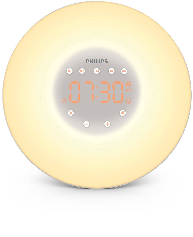 brand new philips wake up light alarm clock sunrise. Black Bedroom Furniture Sets. Home Design Ideas