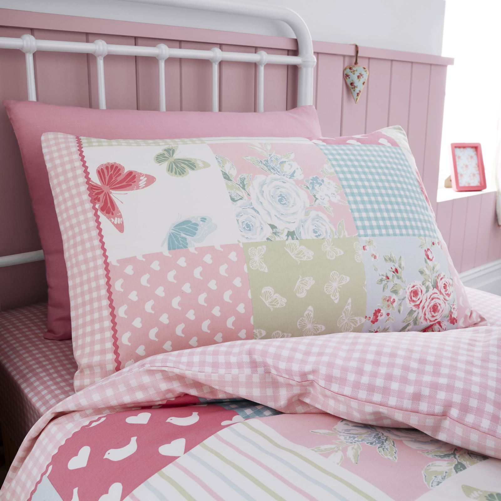 Catherine Lansfield Kids Girls Boys Tape Top Pair Fully: Catherine Lansfield Canterbury Patchwork Childrens Duvet