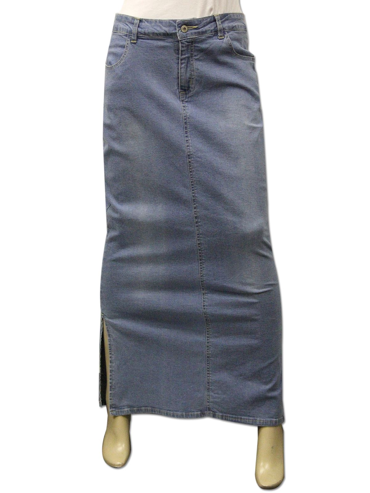Clove-long-ankle-length-maxi-stretch-denim-pencil-skirt-plussize-16-18-20-22-24