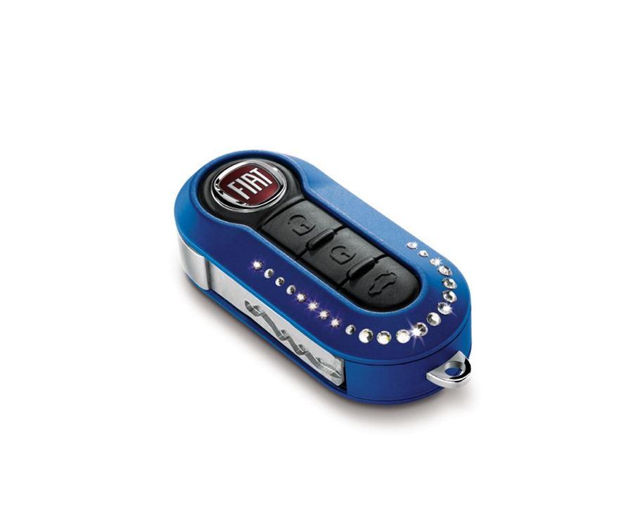 fiat 500 punto grande evo blue swarovski snake key fob. Black Bedroom Furniture Sets. Home Design Ideas