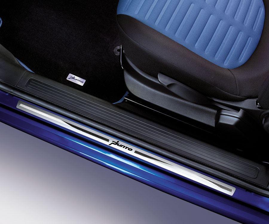 Fiat grande punto 5 door aluminium sill guards kick plates for Interieur filter