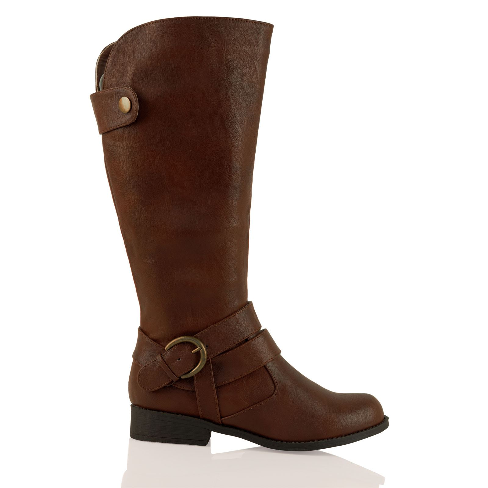 Unique New BROWN TALL Leather Womens Ladies Cowboy Fashion Riding Boots - SALE Price! | EBay