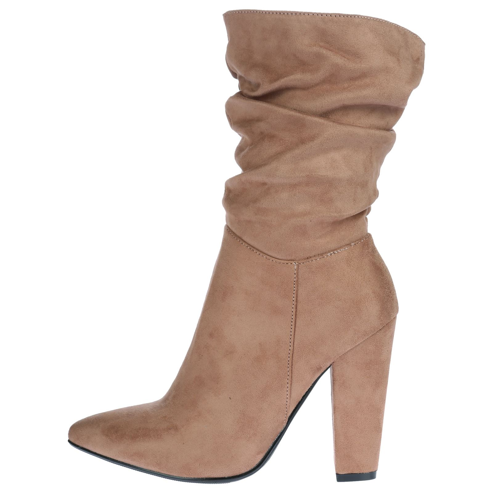womens boots mid calf ankle slouch high heels