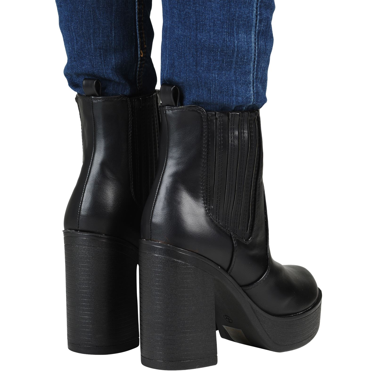 womens ankle boots chunky winter block heel
