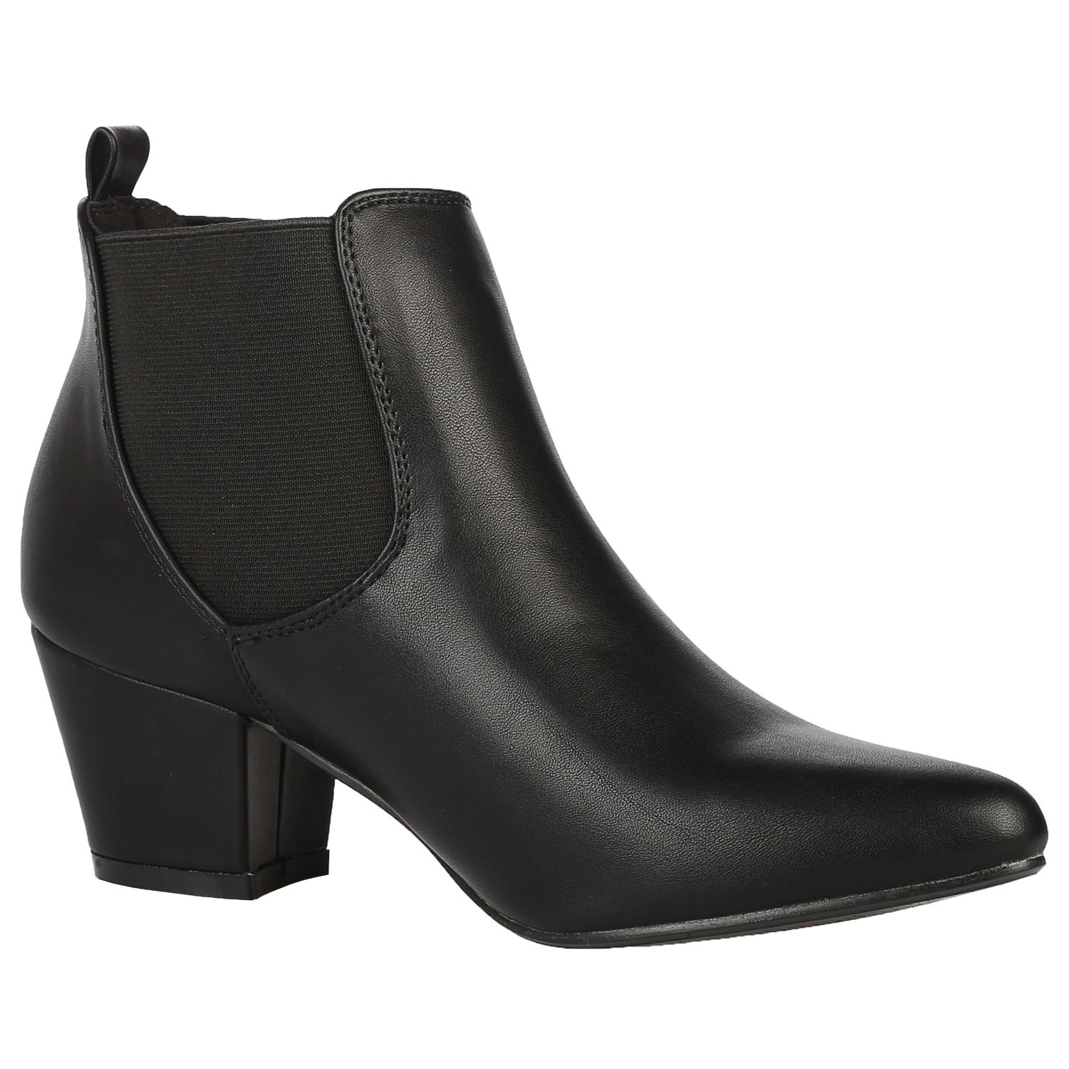 womens ankle boots work office pixie chelsea shoes