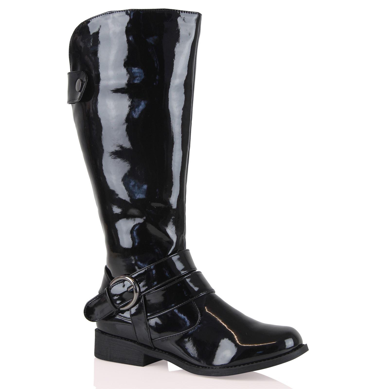 Cool Frye Womens Shirley Riding Knee High Fold Over Black Fashion Equestrian Boots | EBay