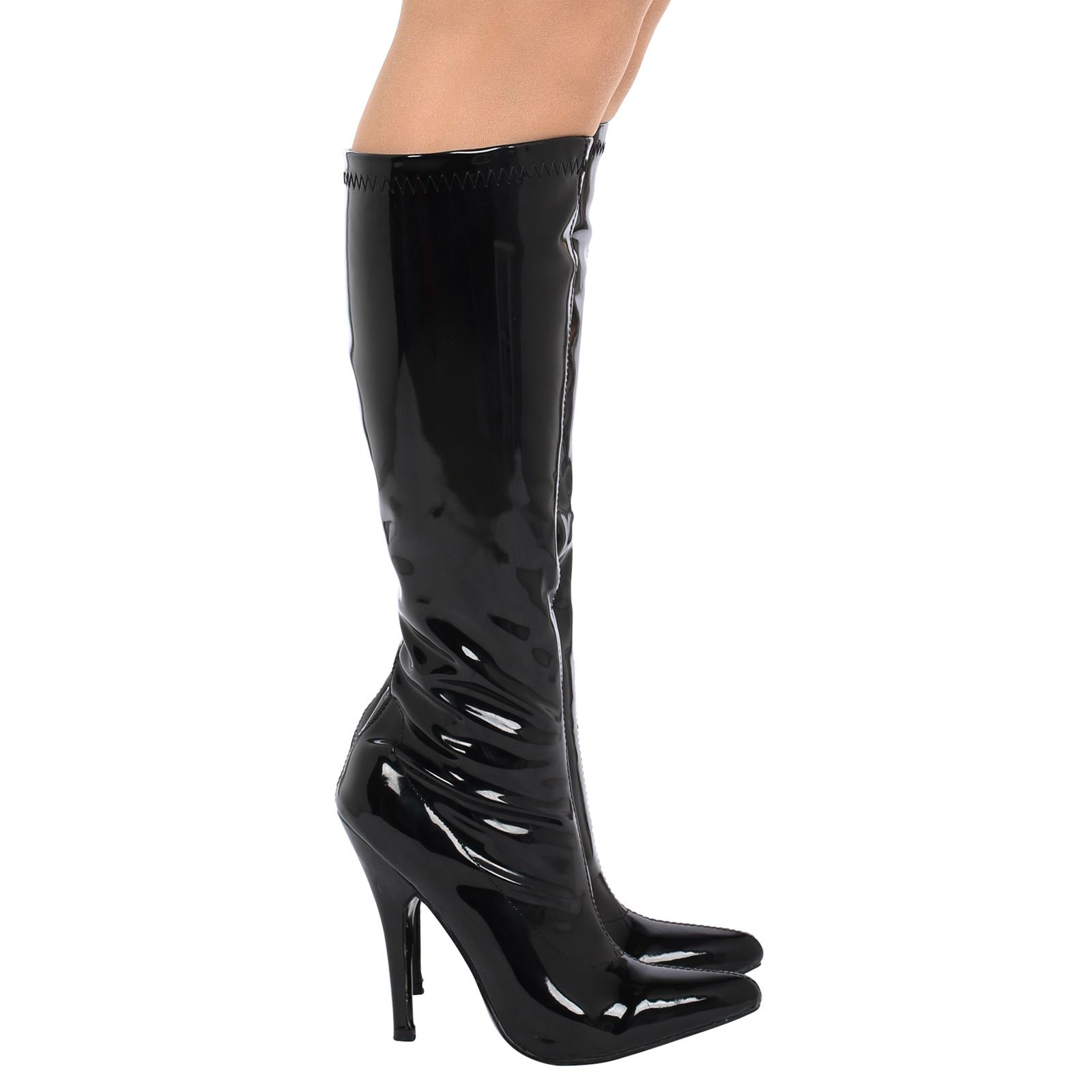 womens high stilettos heel mid calf knee high