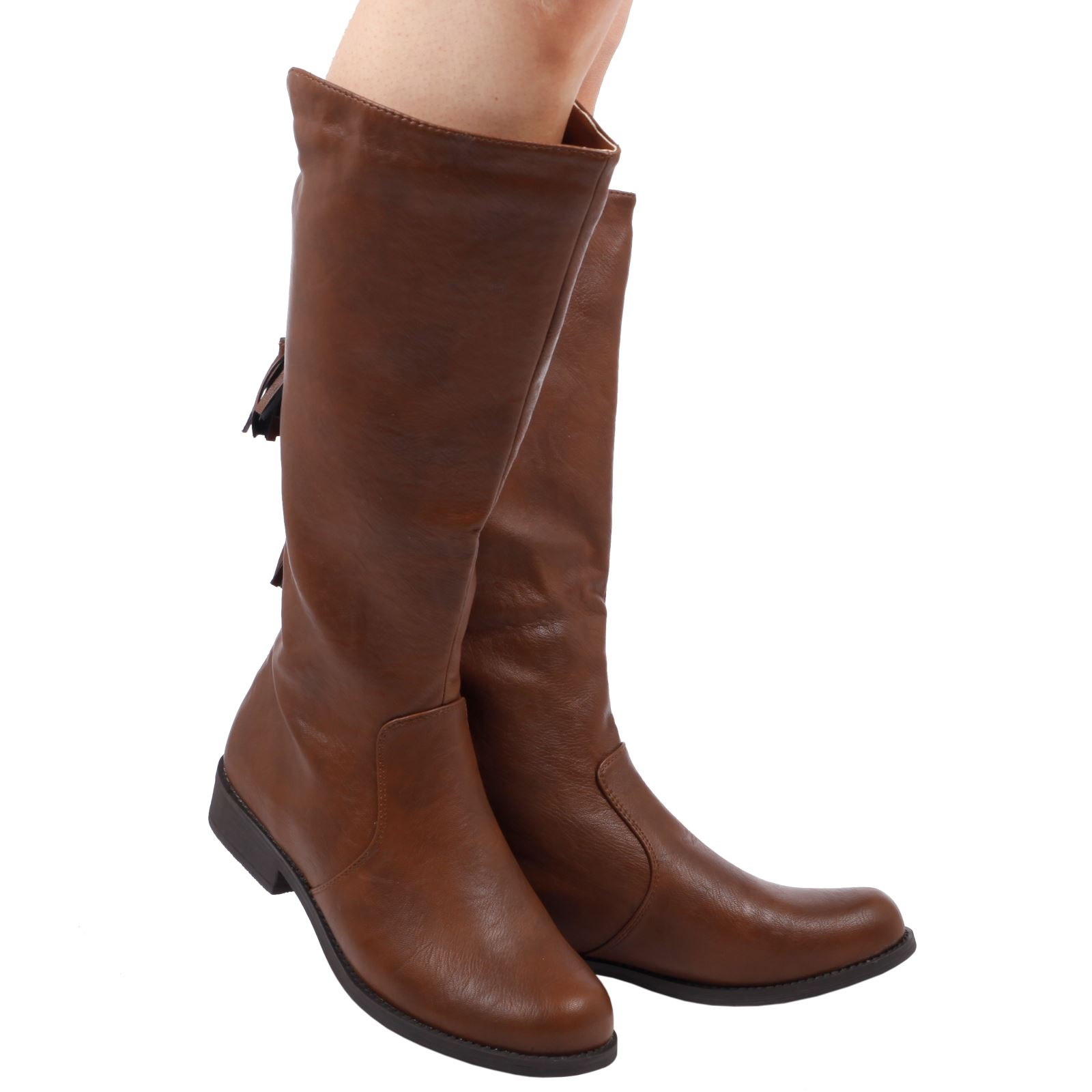 Creative WOMENS BOOTS LADIES KNEE HIGH BIKER RIDING FASHION BOOTS CALF SHOES STYLE SIZE | EBay