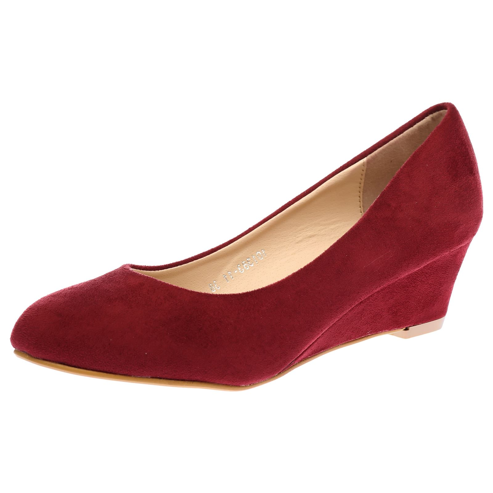 womens wedges low heels work office court shoes