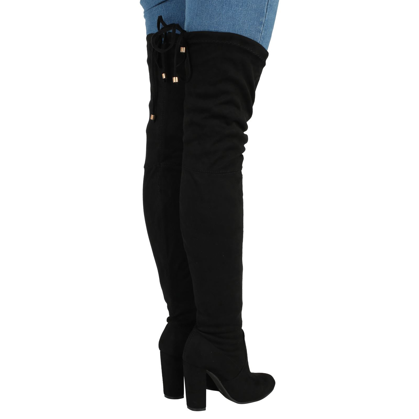 new womens the knee thigh boots high block