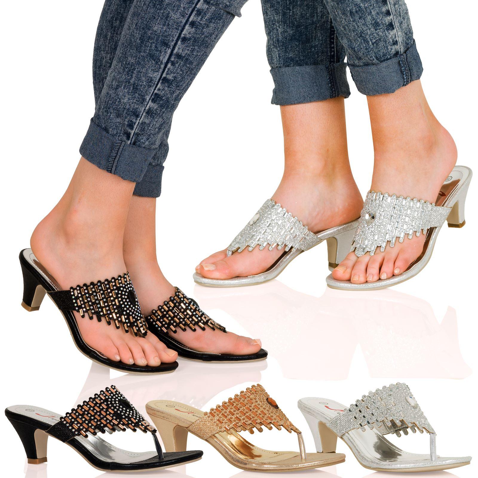 Womens sandals mid heel - Item Specifics