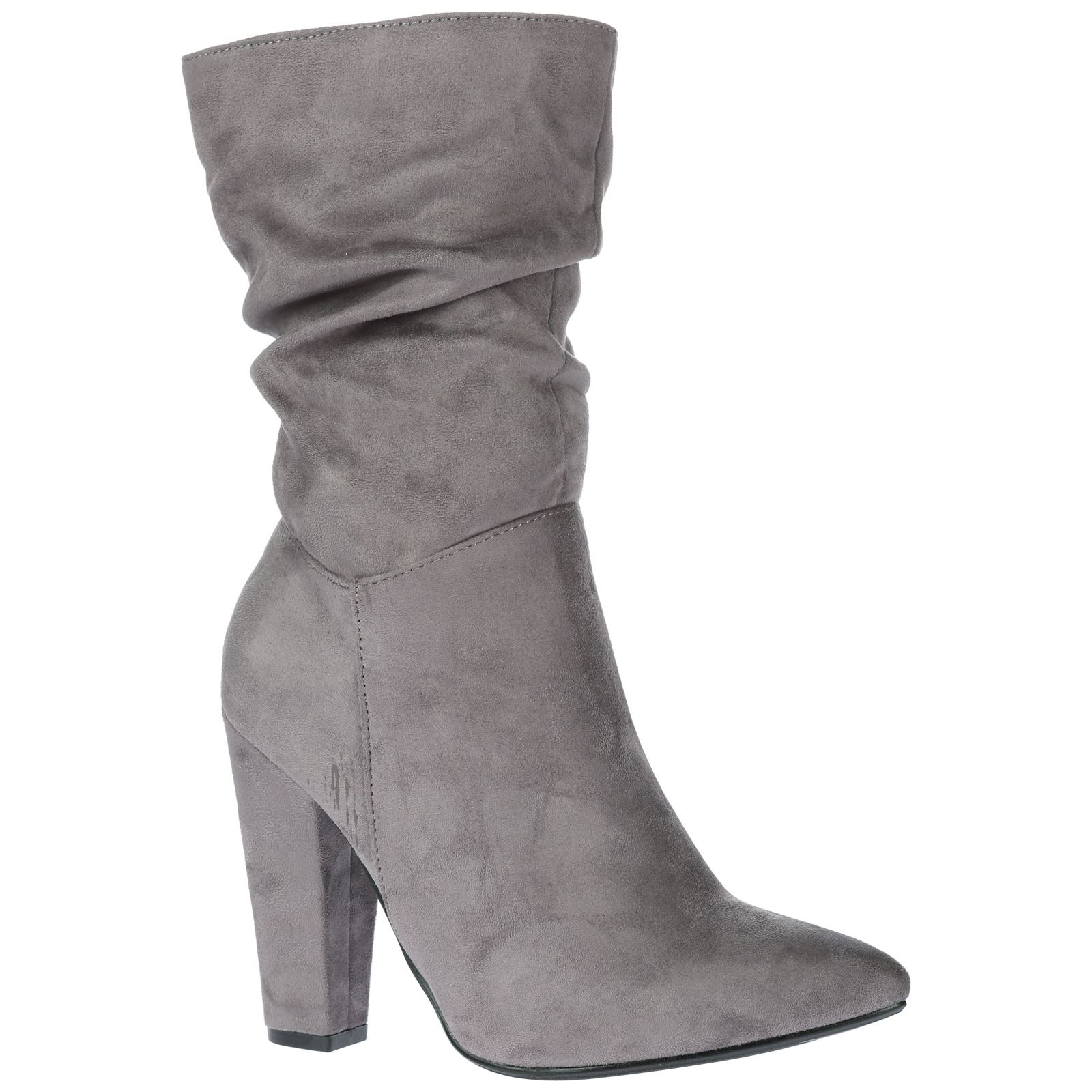 georgina womens high block heel ruched slouch mid calf