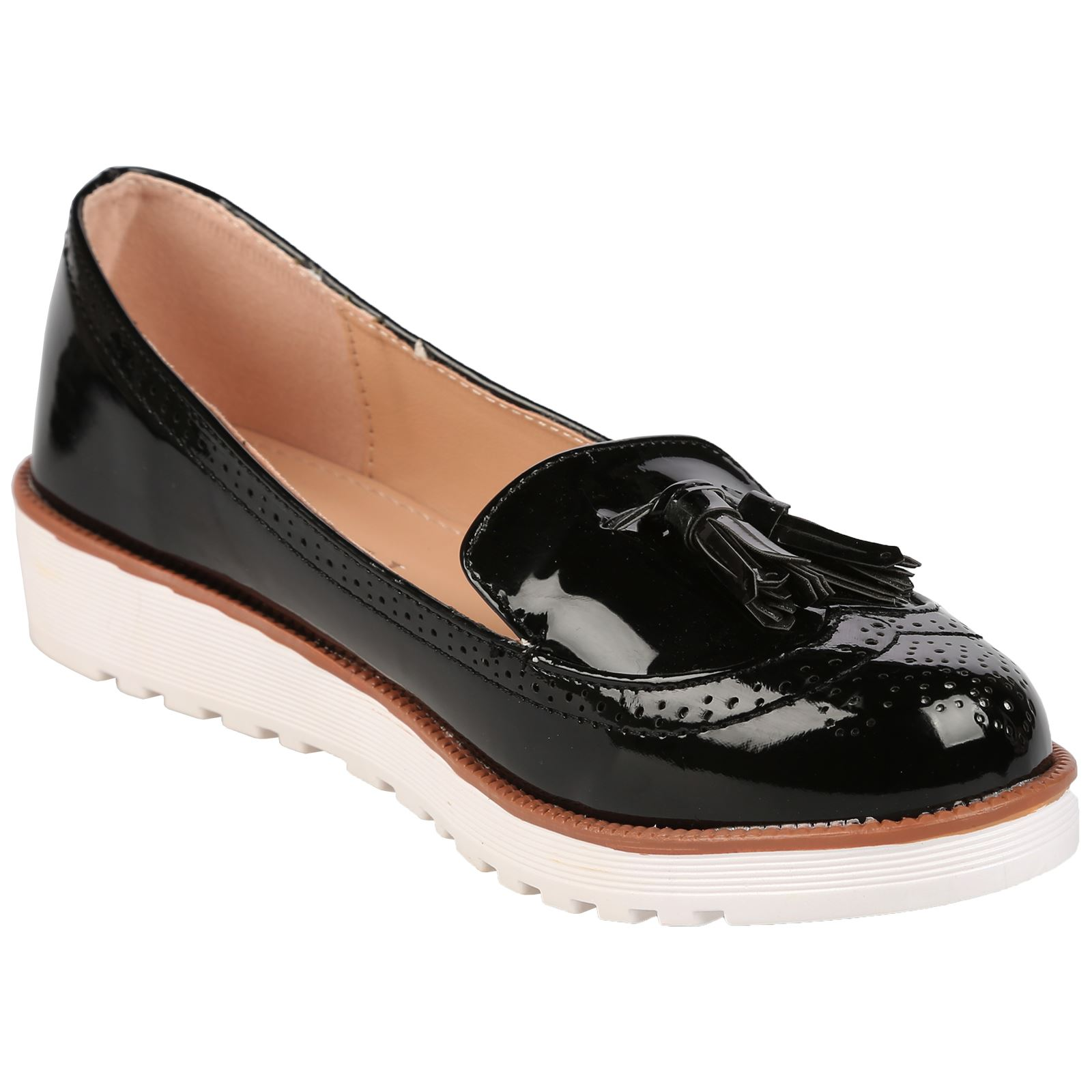 ladies pumps womens flat shoes loafers tassel fringe