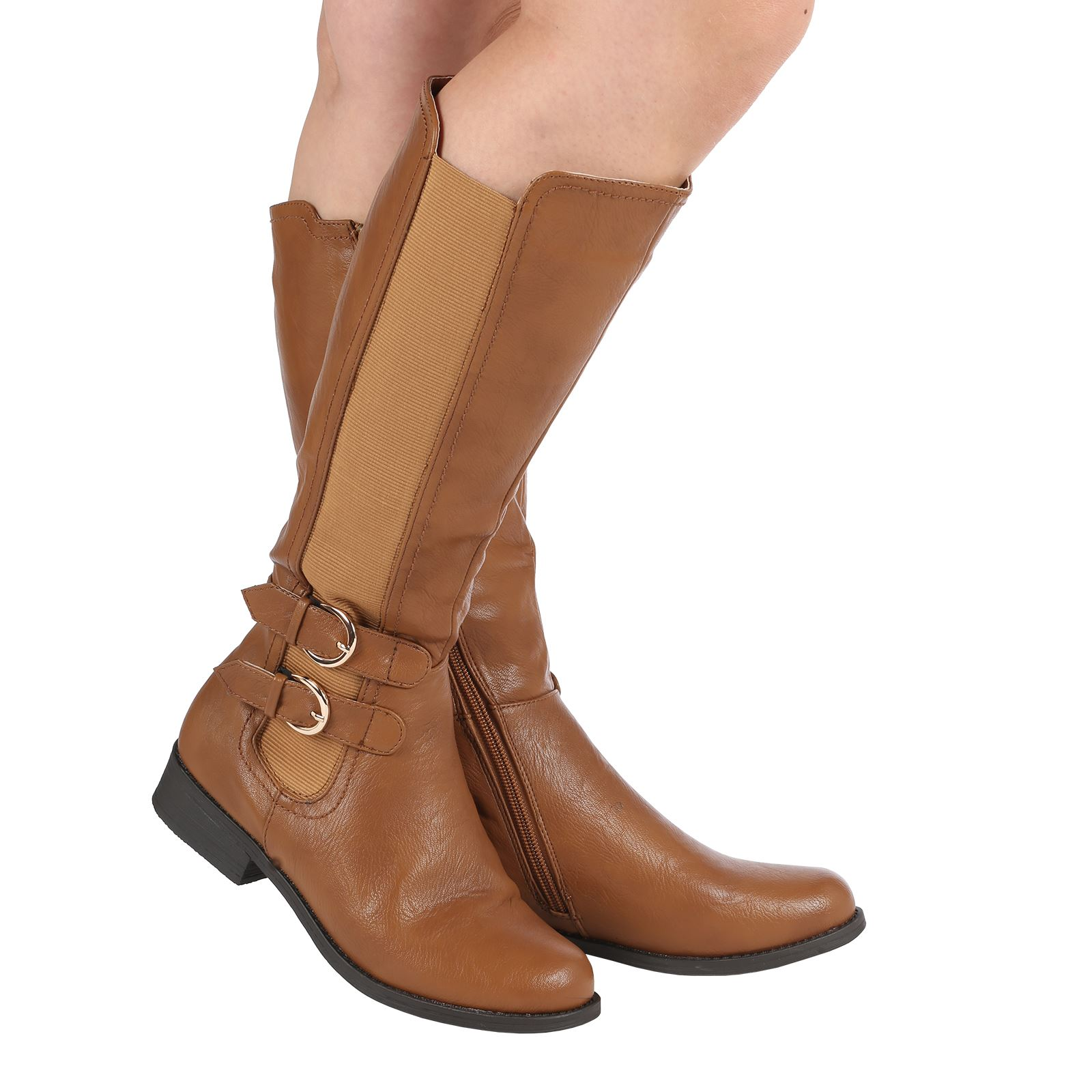 Creative Ladies Knee High Genuine Leather Boots Womenu0026#39;s Small Heel Riding Style Shoes | EBay