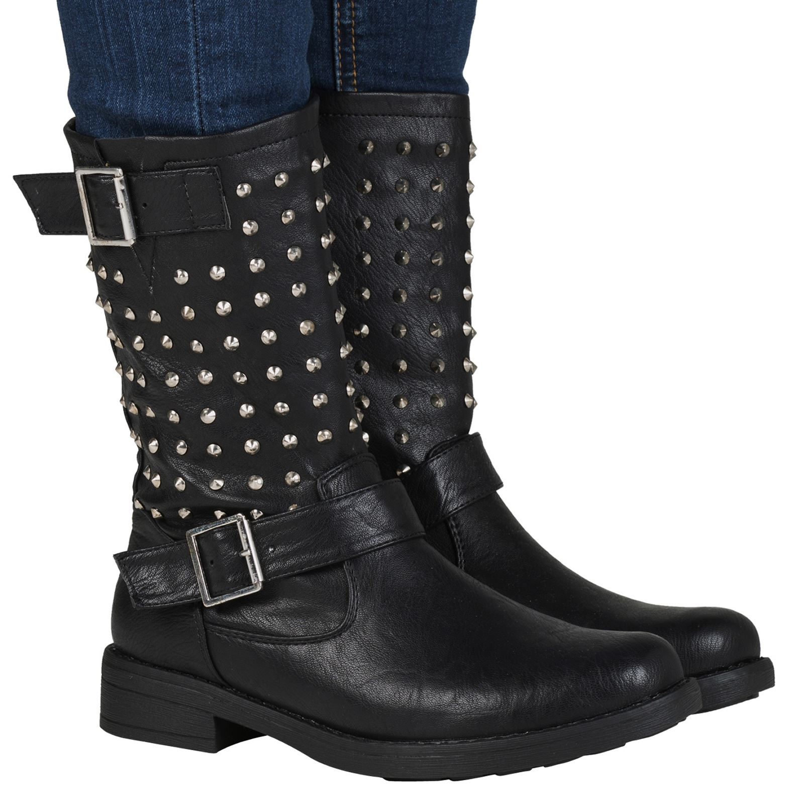 Lastest 95+ [ Motorcycle Boots Outfit ] - Embellished Biker Boots And Distressed Denim How To Wear Your ...