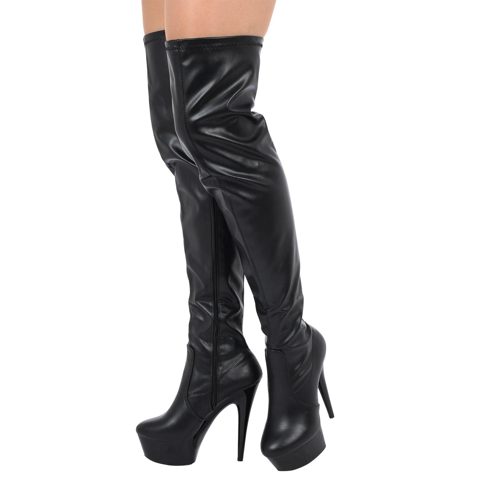 Fetish platform thigh boots August